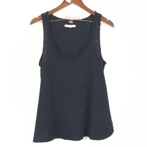 Pure + Good Anthropologie Black Basic Tank Top M